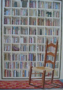 Bookcase with chair