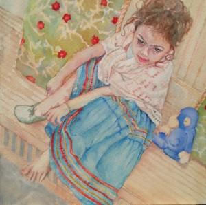 blue monkey and shoe c