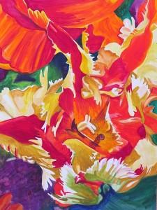 Curtis_Tulip Blast_watercolor_24 x 18