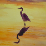 egret silouette